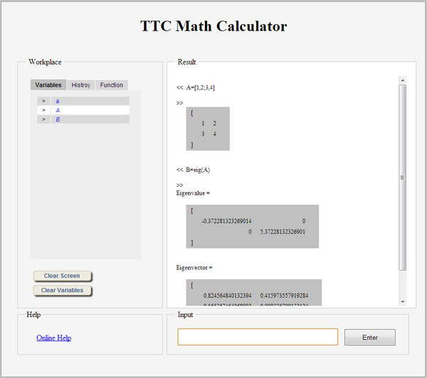 TTC Web Calculator